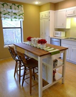 Small Kitchen Island Made From Pallets | Kitchen islands ...
