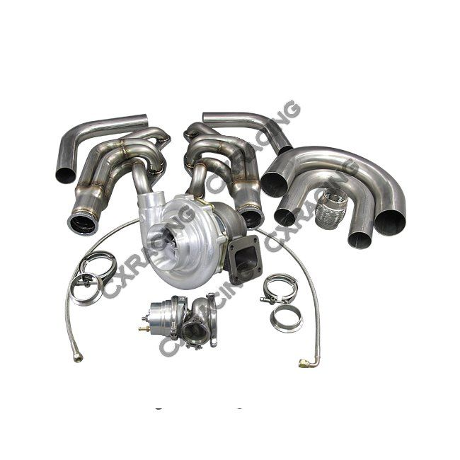 T76 Single Turbo DIY Kit For Small Block Chevy SBC GM 302