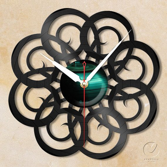 vinyl wall clock retro no4 by Anantalo on Etsy, ฿1100.00