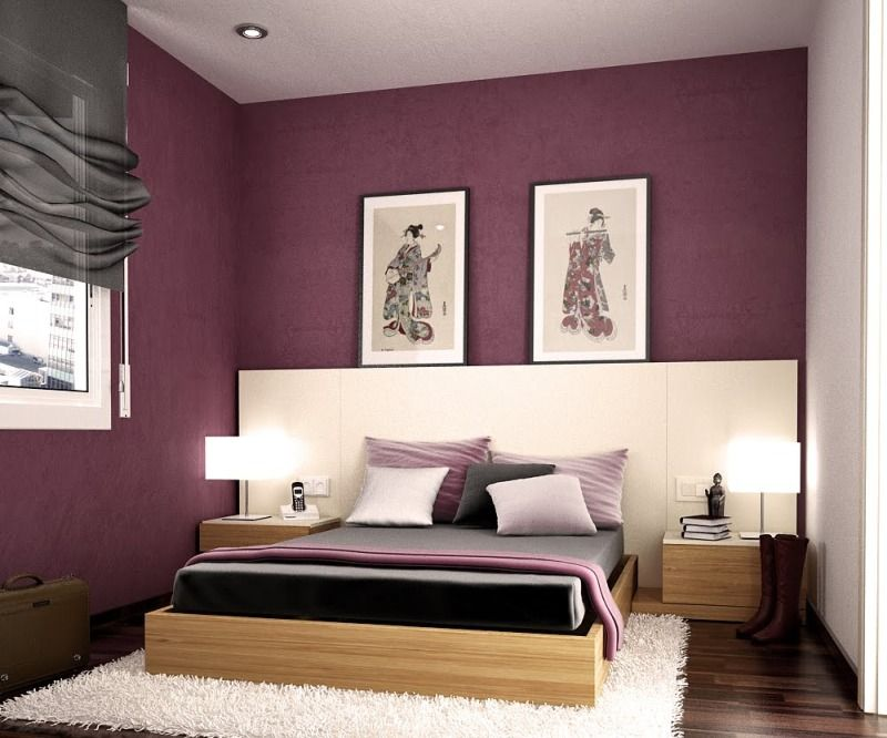 Modern Bedroom Purple delighful bedroom decorating ideas purple walls grey rooms on