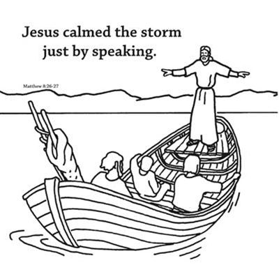 Memory Cross Coloring Card Jesus Calms The Storm By Memory Cross Jesus Calms The Storm Calming The Storm Sunday School Coloring Pages