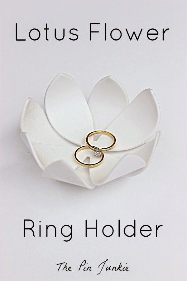 909753afff Lotus Flower Ring Holder | Pin Junkie Projects - DIY | Lotus flower ...