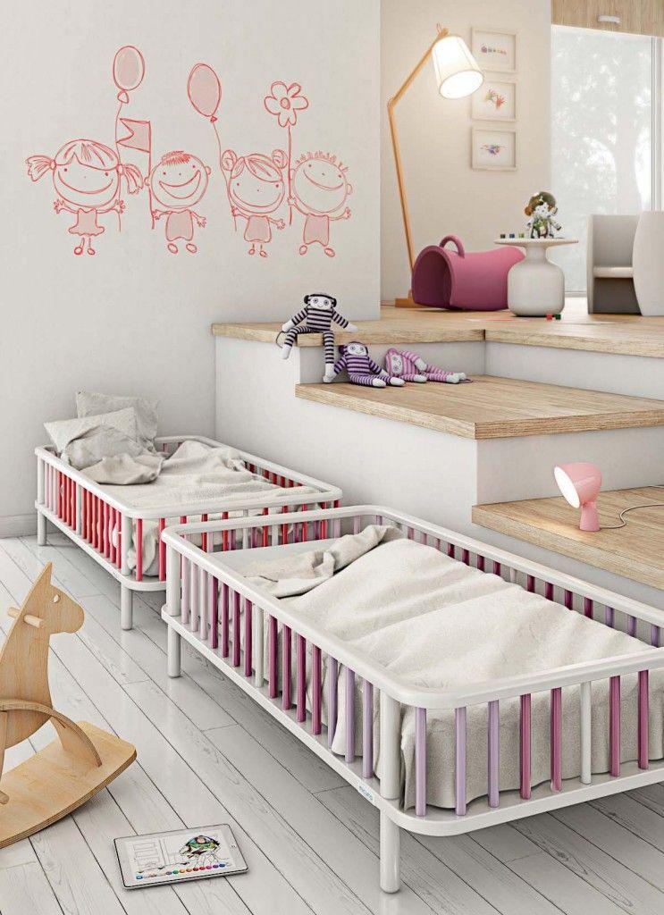 Habitación para gemelos / mellizos. Dos camas iguales ...