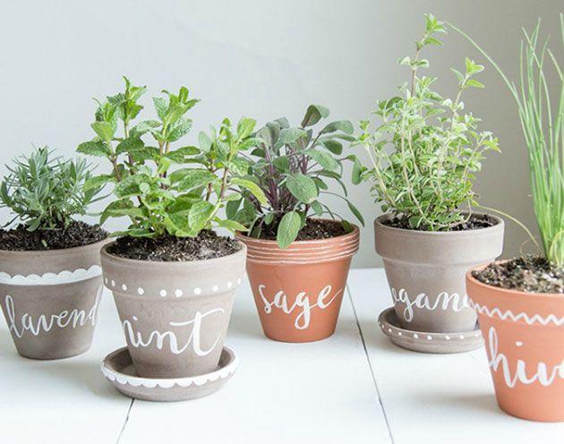 60 ideas para pintar y decorar macetas de barro o terracota | Mano ...
