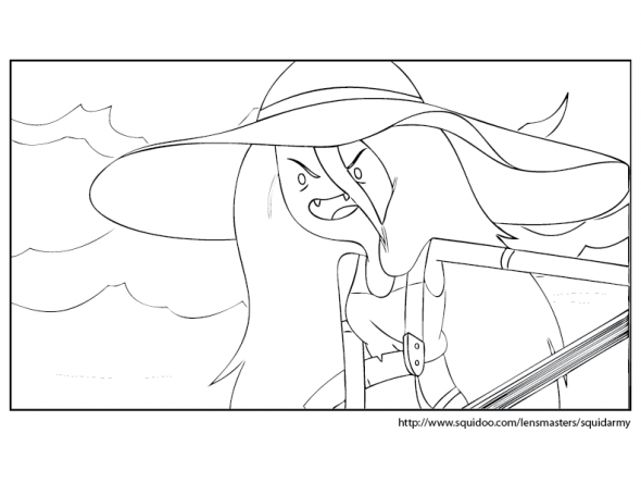 Adventure Time coloring pages Marceline  Diy Coloring Pages