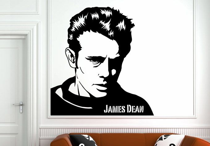 Wall Decals - James Dean Wall Decal - Movie Legends Home Decor   New ...