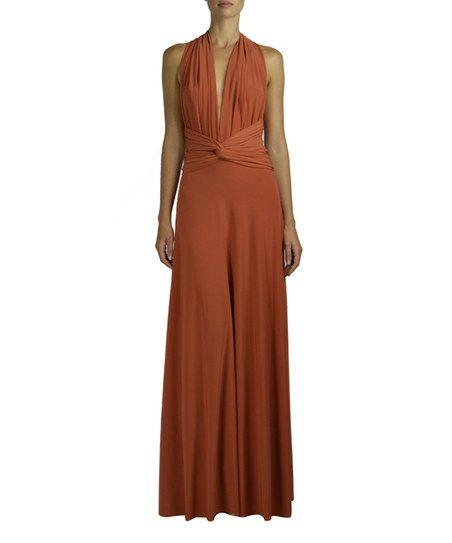 Von Vonni Burnt Orange Transformer Maxi Dress | zulily