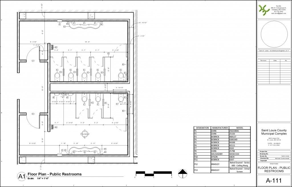 Perfect Public Bathroom Floor Plan With Revit Architecture 2010