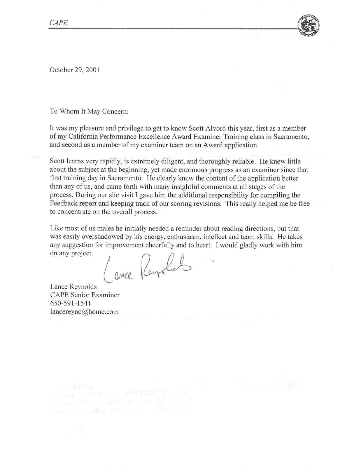 College Letters Of Recommendation From Math Teacherletter Of