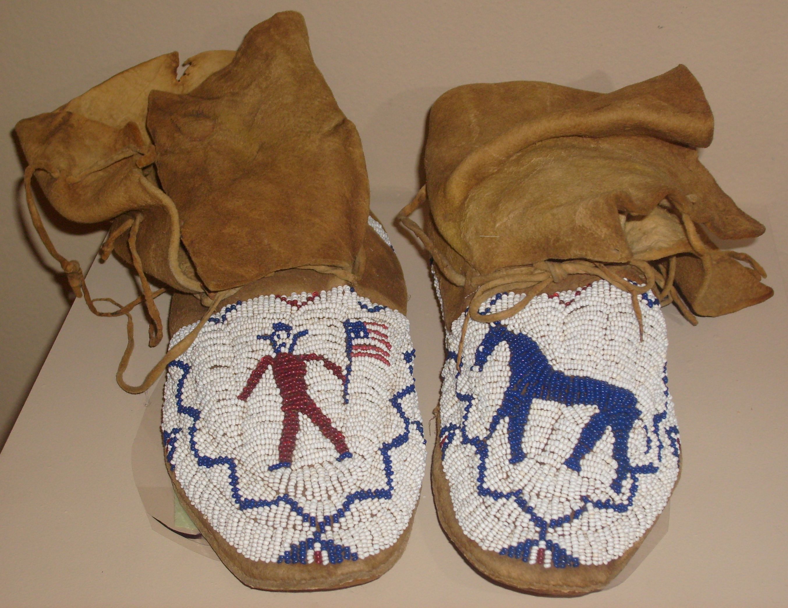 Beaded moccasins that belonged to Chief Washakie (Shoshone), Wyoming, c. 1900