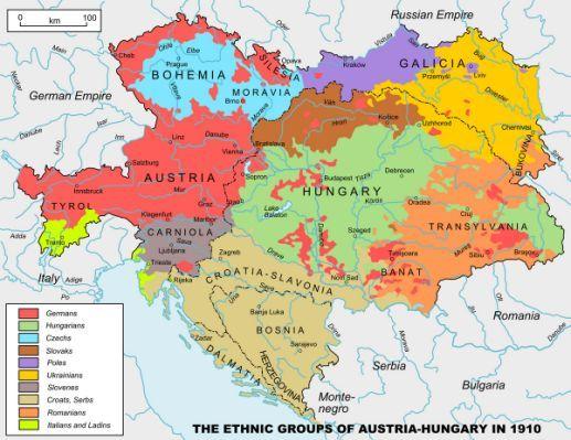 Map Austro-Hungarian Empire 1914   World History   Pinterest ...