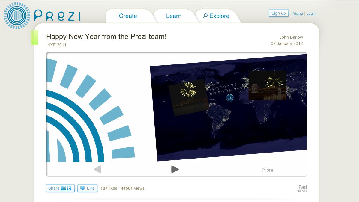 Prezi: Interactive presentation
