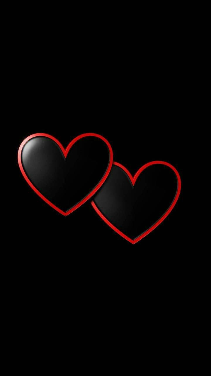 Pin By Thayana Paiva On Cute Wallz Heart Wallpaper Black Wallpaper Iphone Black Wallpaper