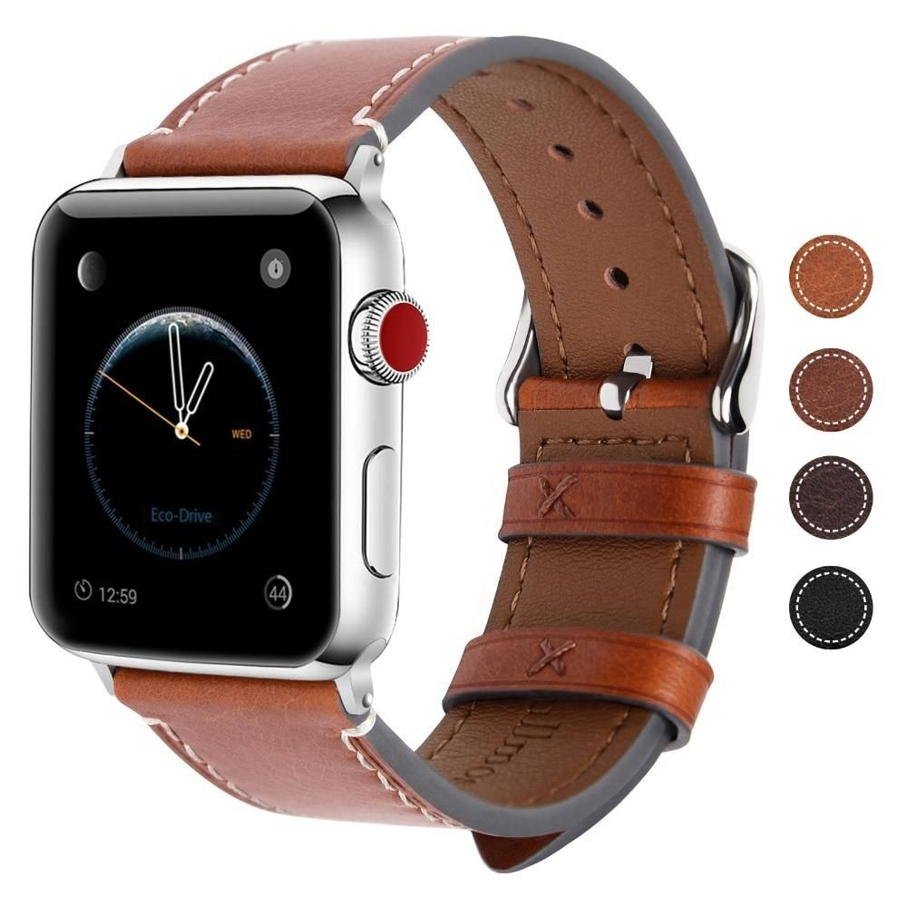 Leather Apple Watch Bands 38mm 40mm 42mm 44mm, Watch