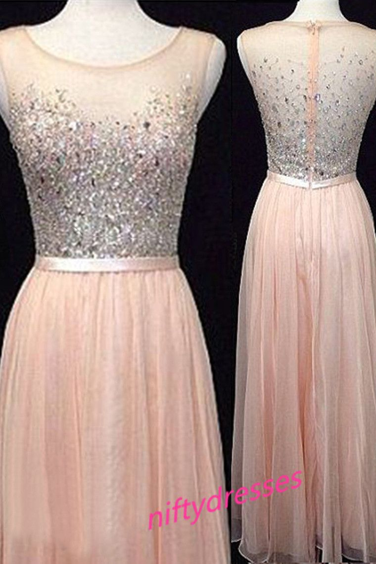 Light blush pink prom dressesbackless prom dressbeaded prom