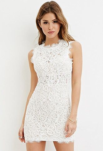 4ef83a47efa1 Rope-Embroidered Lace Mini Dress | Forever 21 - 2000180533 | My ...