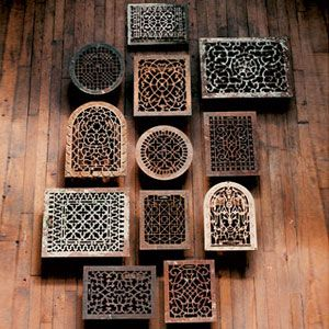 Decorative Wall Registers recycling vintage registers | vintage, wall sconces and house