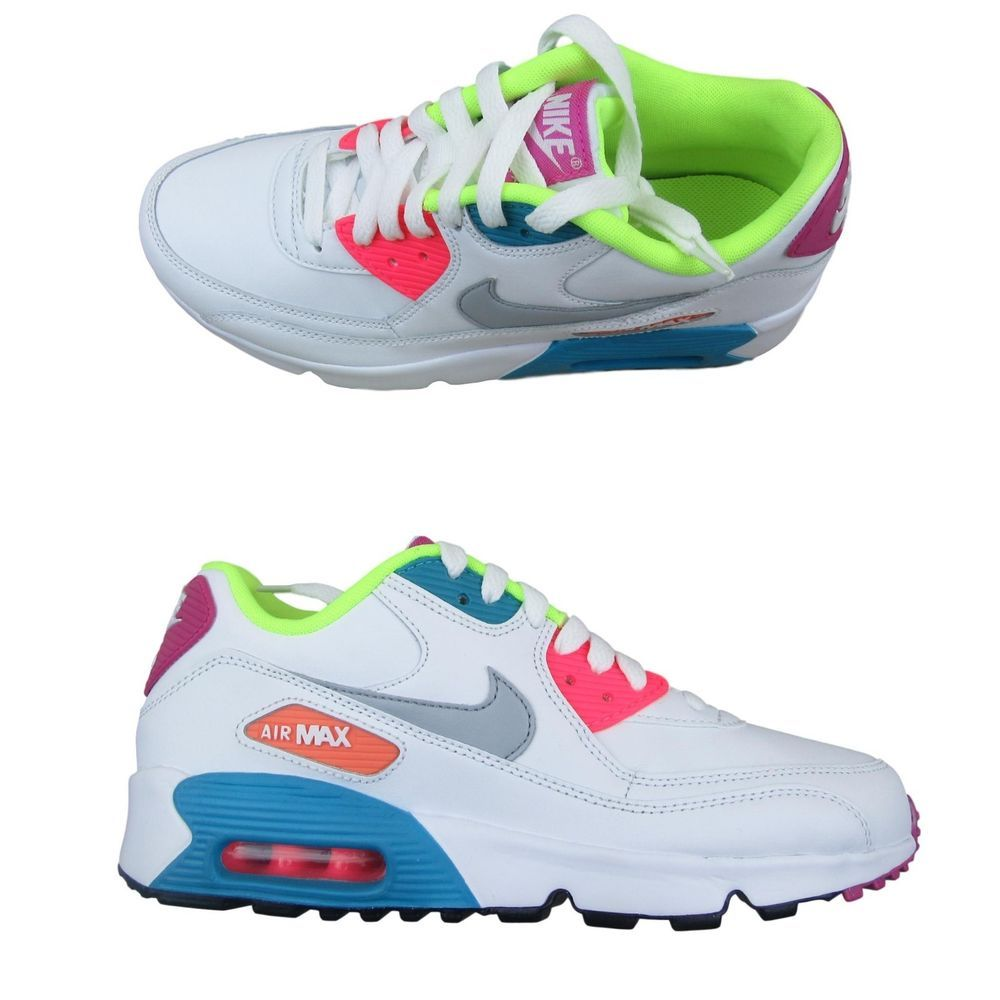 pretty nice 46147 effb6 Nike Air Max 90 GS Kids Shoes Size 6.5Y Womens Size 8 Multi ...