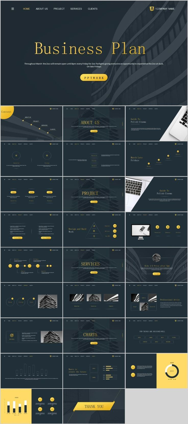business infographic best charts report powerpoint template