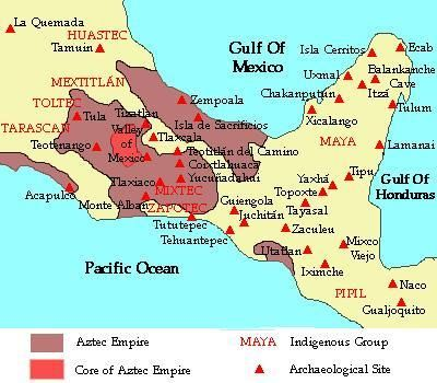 tribes of [mexico] 900 A.D. - 1521 A.D. | indigenous maps | Native ...