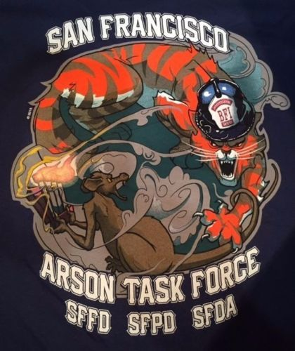 San Francisco Fire Department Sfpd Arson Task Force T Shirt Fire