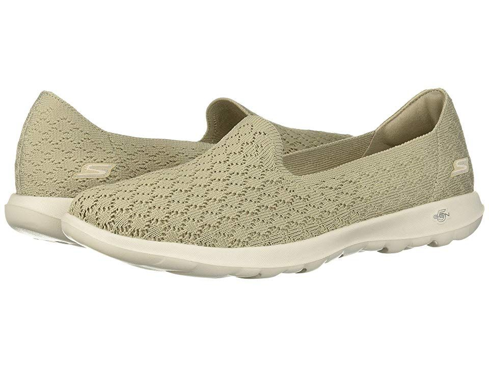 63a6bc614a75 SKECHERS Performance Go Walk Lite - Daisy (Taupe) Women s Slip on Shoes.  Iconic