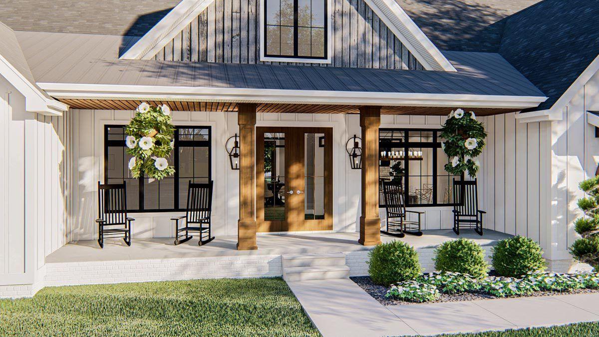 Plan 62867dj Exclusive Modern Farmhouse Plan With Fantastic Master Suite In 2020 Modern Farmhouse Plans Modern Farmhouse Exterior Modern Farmhouse Style