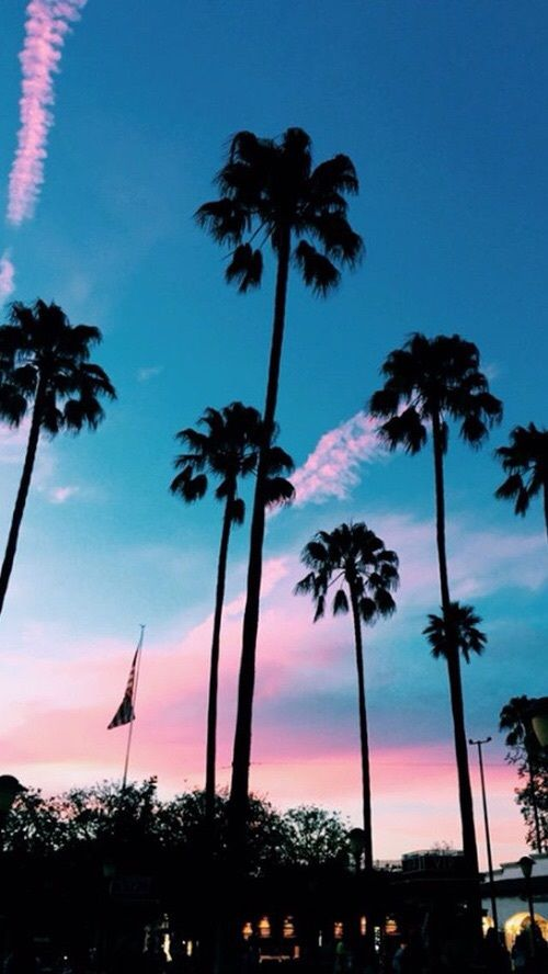 Pretty Wallpaper Blue Life Sunset Beach Sky Homescreen Beauty View Tumblr Pink Background Nature Iphone Wall Achtergronden Wallpaper Landschappen