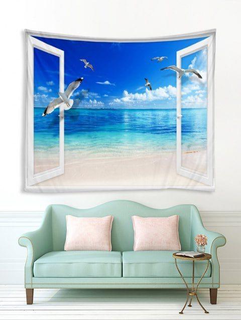fenêtre plage mouette imprimer tapisserie tenture murale on walls coveralls website id=74674