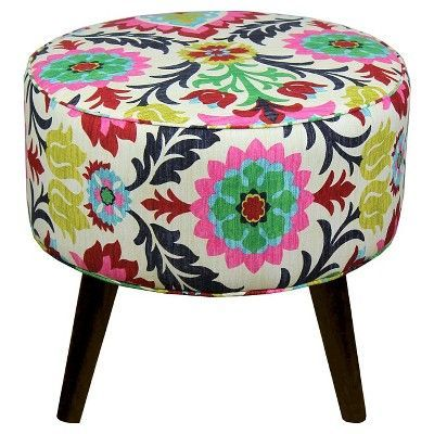 Superb Riverplace Round Cone Leg Ottomansanta Maria Flower Gmtry Best Dining Table And Chair Ideas Images Gmtryco