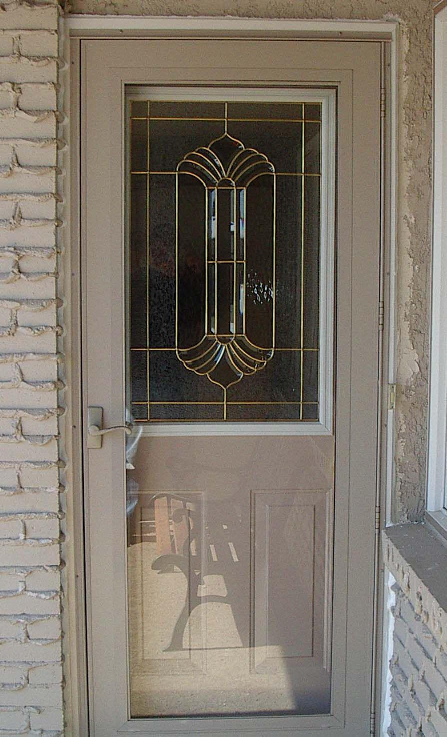 Door With Quot Greensville Quot Glass And Storm Door Doors