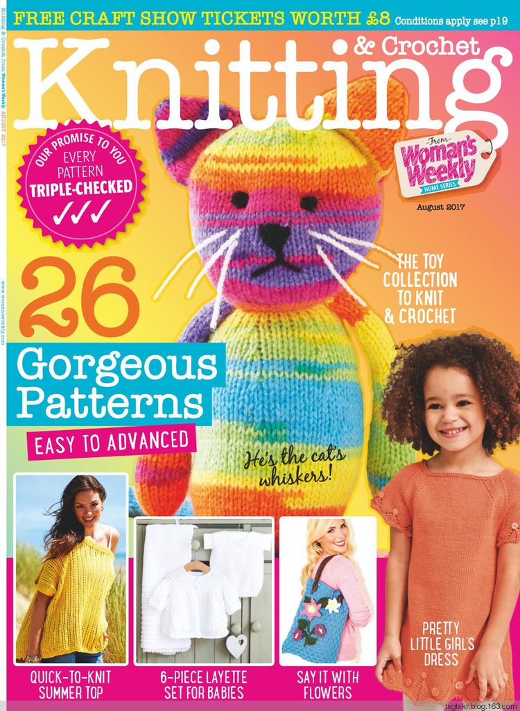 Knitting Crochet From Womans Weekly August 2017