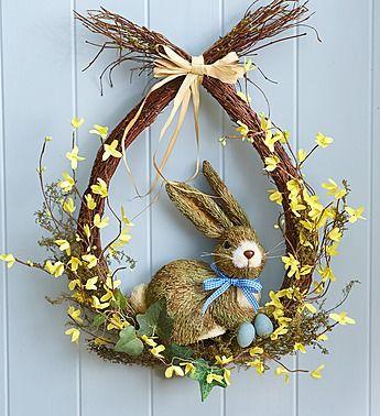 Photo of Teardrop bunny wreath