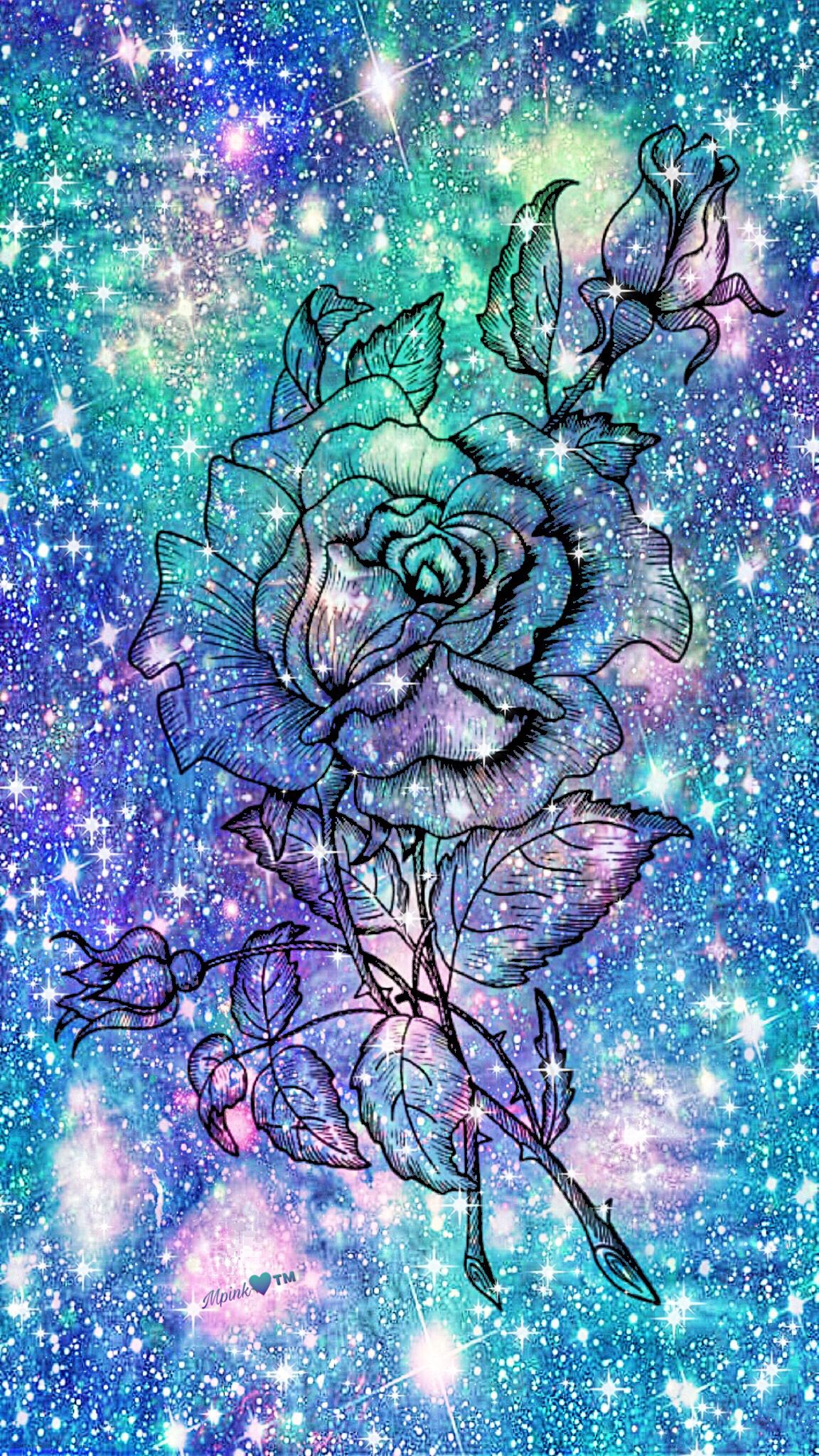 Ice Flower Galaxy Wallpaper Androidwallpaper Iphonewallpaper