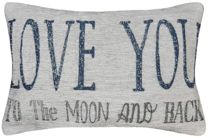 Spencer Home Decor ''Love You To The Moon And Back'' Mini Throw New Spencer Home Decor Pillows