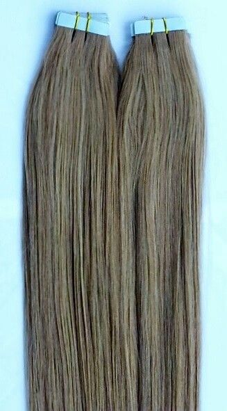 100% Human Tape In Hair Extensions #18 Dark Blonde http://shop.hairfauxyou.com/Tape-In-Hair_c105.htm