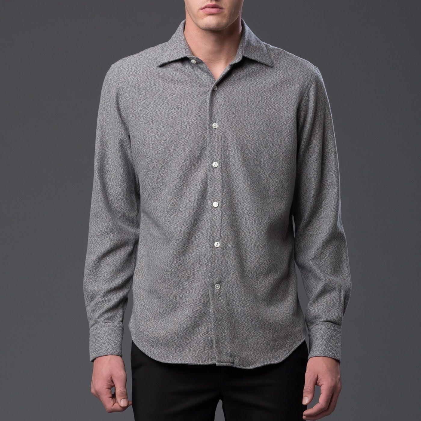 Grey Flannel Hopkins Oxford Shirts, Shirts grey, Grey