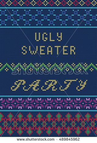 780b4910752b5 Vector Illustration of Ugly sweater party seamless Pattern for Design