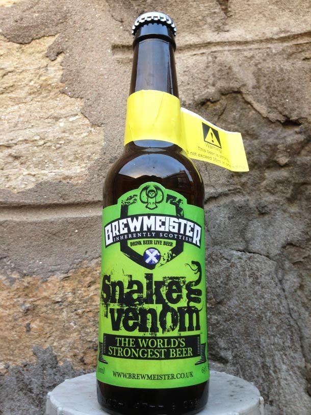 Biere Les Plus Forte snake venom – la bière la plus forte du monde à 67,5% | design