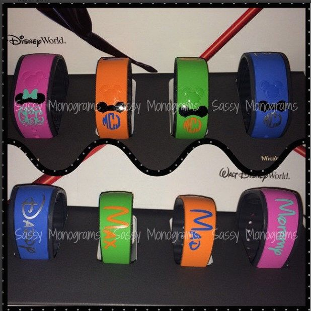 Magic Band Personalized Name Only Vinyl Decal Magic Bands - Magic band vinyl decals