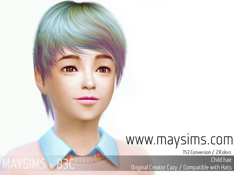 Hairstyles Updates: MAY Sims: May Hairstyle 83C.7
