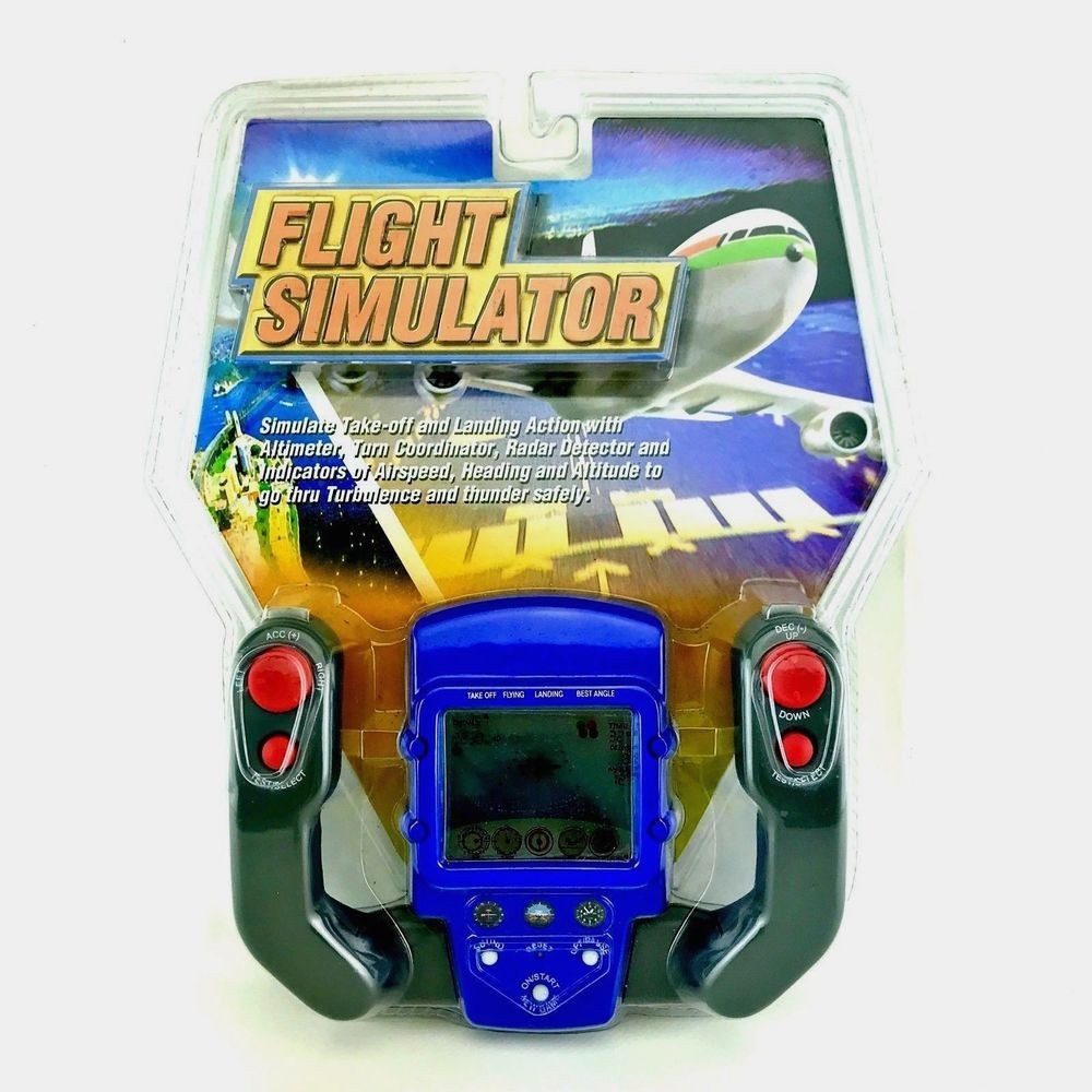 VINTAGE FLIGHT SIMULATOR LCD HANDHELD GAME AIRCRAFT FLYING