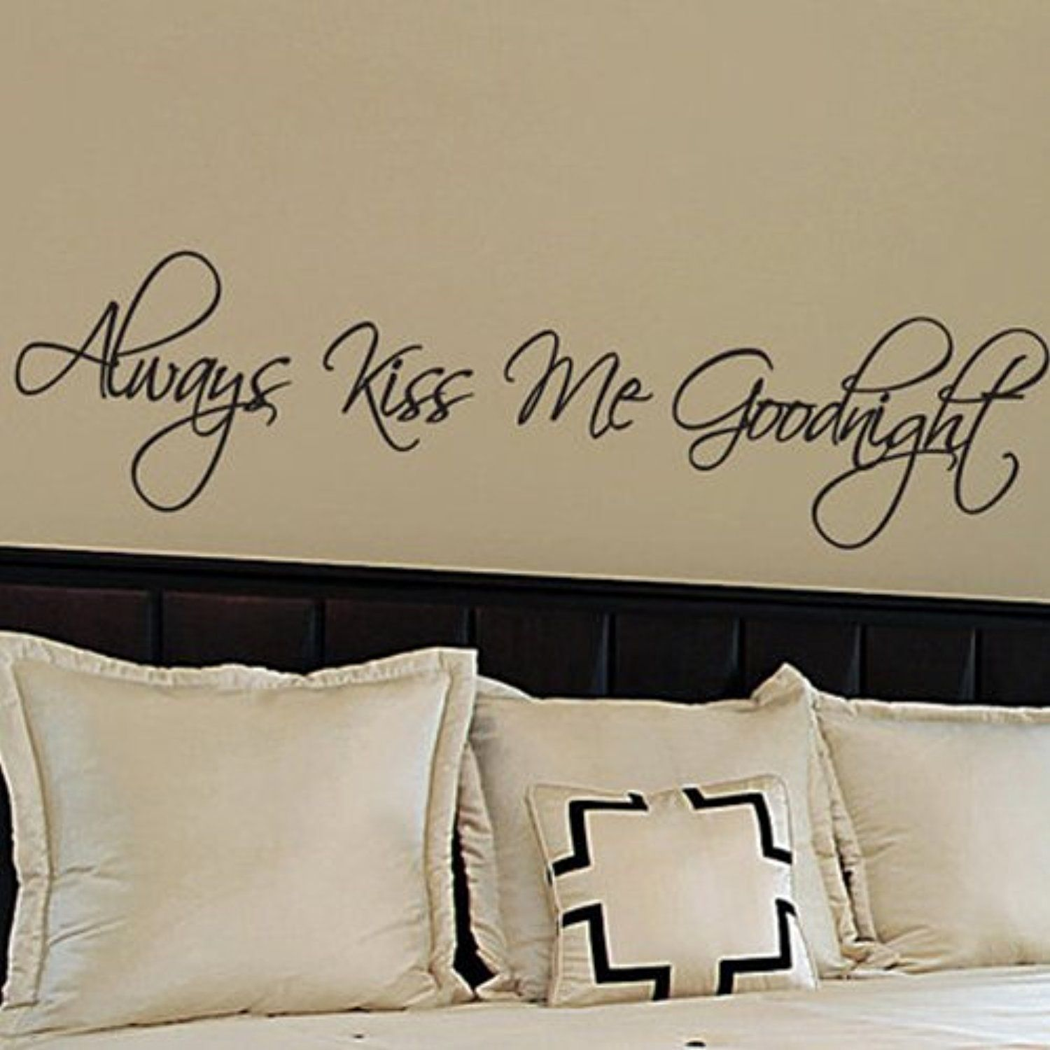Always Kiss Me Goodnight - Wall Quotes Stickers Vinyl Wall Decals ...