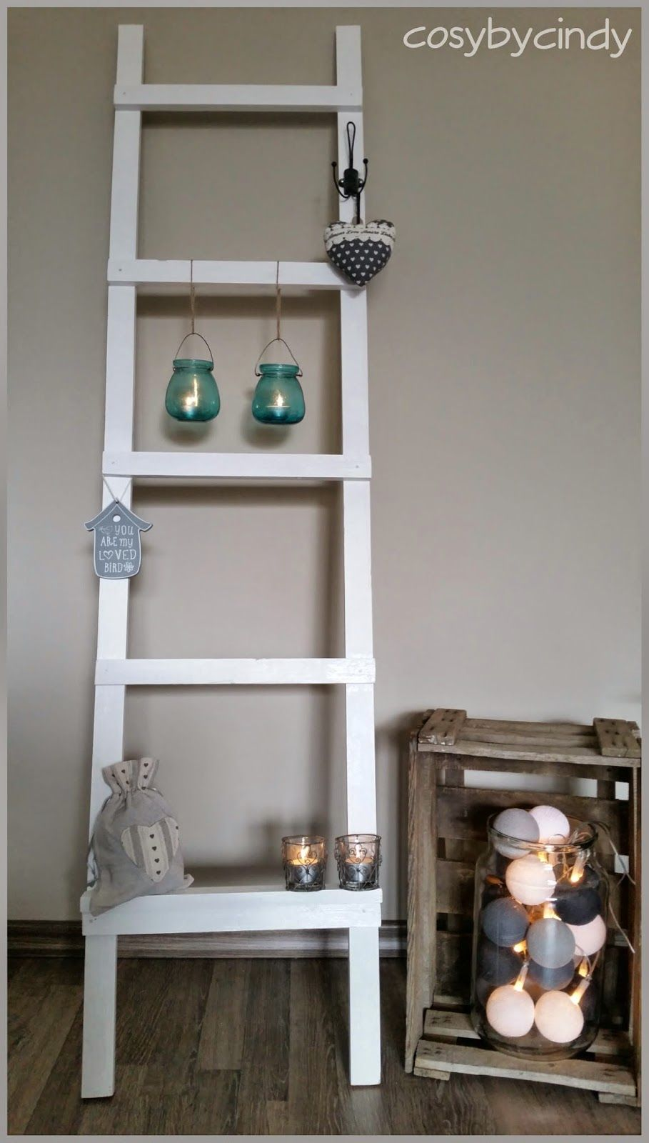 Zelf gemaakte decoladder meer foto s op mijn blog for Decoratie ladder action