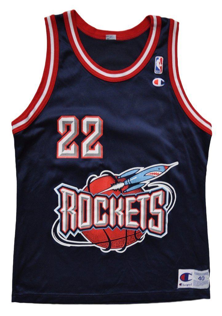 79b9fad8b1d Clyde Drexler Houston Rockets Replica Jersey - 40 M