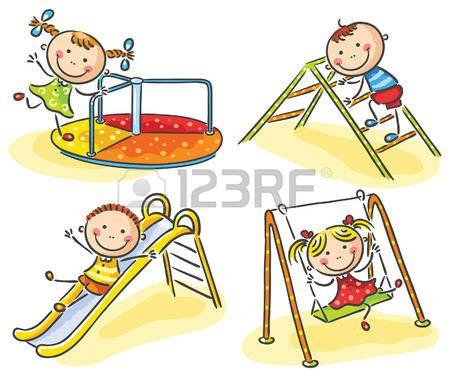 Cartoon Kids And Their Teacher On A Walk In The Kindergarten Caricaturas De Ninos Graficos De Ninos Imagenes De Ninos Felices