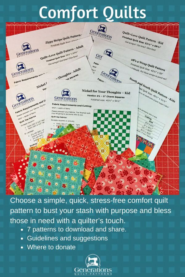 Spread a Little Love with Comfort Quilts is part of Quilting crafts, Quilts, Quilt block patterns, Quilt patterns, Small quilts, Quilting tips - Make simple, quick, stressfree comfort quilts to bust your stash with purpose and bless those in need with a quilter's touch