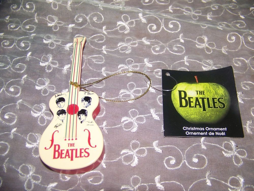 THE BEATLES 1964 Guitar CHRISTMAS ORNAMENT NEW (With ...