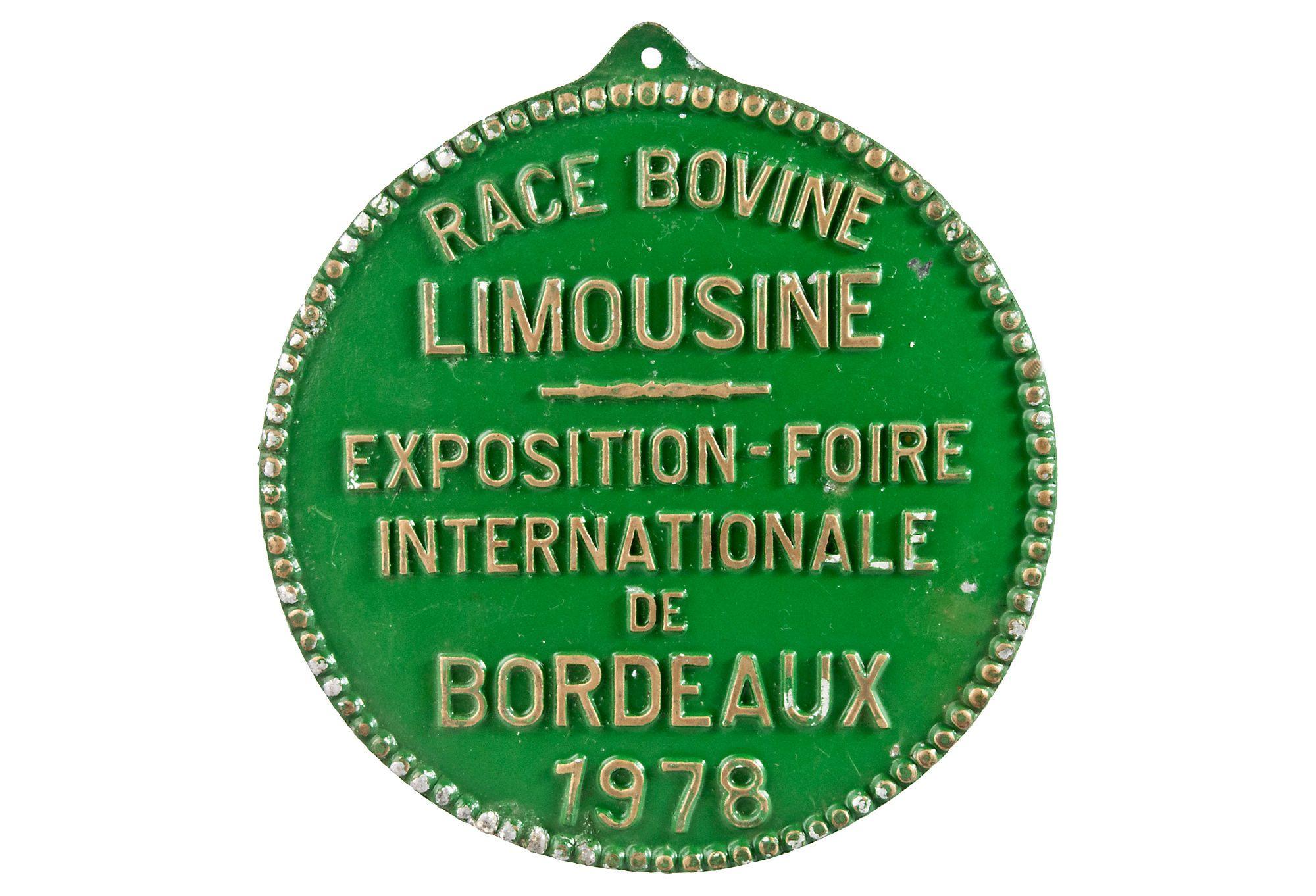 French Cast Aluminum Bovine Plaque, 1978 | A Place in Paris | One Kings Lane