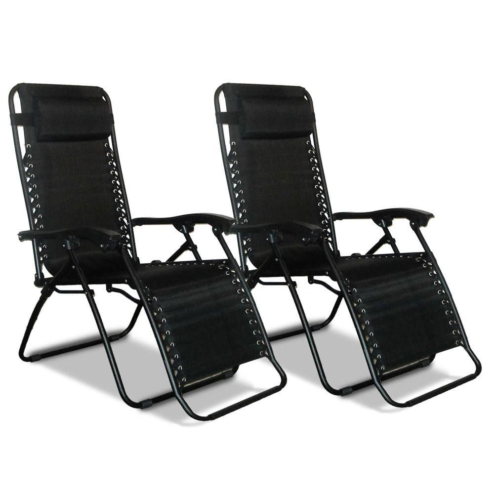 Zero Gravity Recliner Black 2 Pack Chairs Camping Recliner
